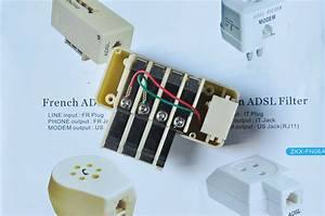 6 Pin French Telephone Rj45 To Rj11 Adapter 911325