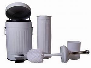 Wc Bürste Set : hti living badezimmer set mit abfallbeh lter und wc b rste 3 online kaufen otto ~ Whattoseeinmadrid.com Haus und Dekorationen