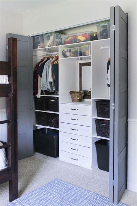 Built In Closet Organization Ideas by Build This Terrific Small Closet Organizer For Bro