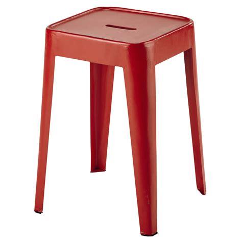 Sgabello Rosso Sgabello Rosso In Metallo Tom Maisons Du Monde