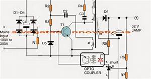 The Post Explains A 32 V 3 Amp Smps Circuit Which May Be Suitably Used For Driving 100 Watt Led