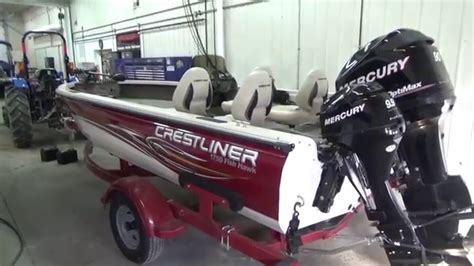 Crestliner Boats In Ohio by 2008 Crestliner 1750 Fish Hawk Used Aluminum Fishing Boat