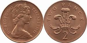 2 Pence - Elizabeth Ii  2nd Portrait  Set Issue