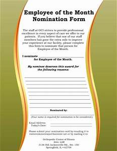 nomination letter for employee of the year donald trump With employee of the month nomination form template