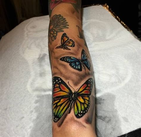 ideas  colorful butterfly tattoo  pinterest