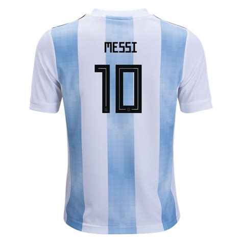 Adidas Lionel Messi Argentina Youth Home Jersey 2018