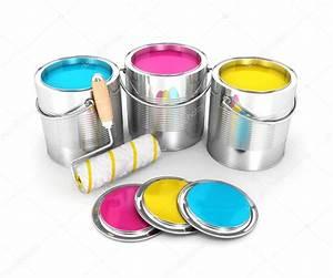 Ouvrir Un Pot De Peinture : les pots de peinture 3d et brosse rouleau photographie 3dmask 35964401 ~ Medecine-chirurgie-esthetiques.com Avis de Voitures