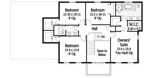 center hall colonial rk architectural designs