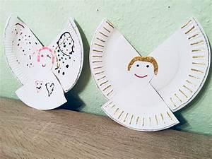 Weihnachtsgeschenke Für Eltern Basteln : engel aus pappteller basteln mit kindern der familienblog f r kreative eltern ~ Orissabook.com Haus und Dekorationen