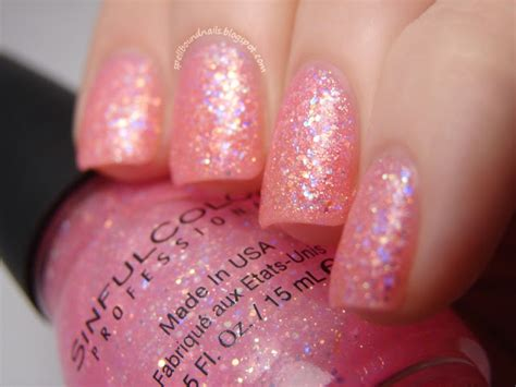 Sinful Colors Pinky Glitter Swatch