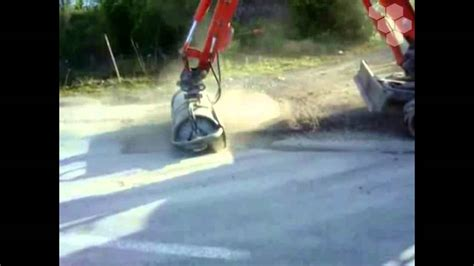 bobcat sweeper broom digger attachments southern tool equipment wmv youtube