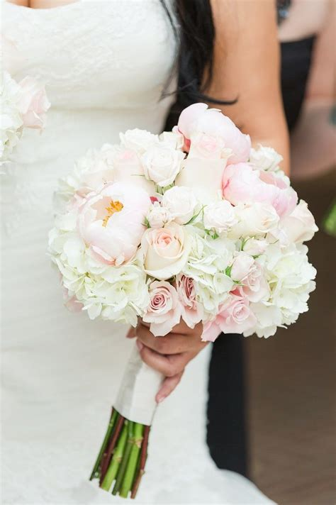 light pink roses  peonies white roses  white