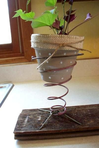 vintage bed spring projects  fall flea market gardening