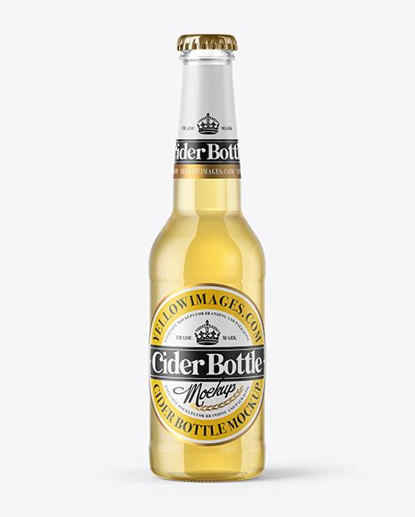 Every bottle is customisable, with two options of labels you can select between shrink wrap or clear sticker labels. 275ml Clear Glass Bottle with Cider Mockup in Bottle ...