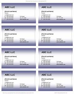 Business card templates for word for Word 2007 business card template