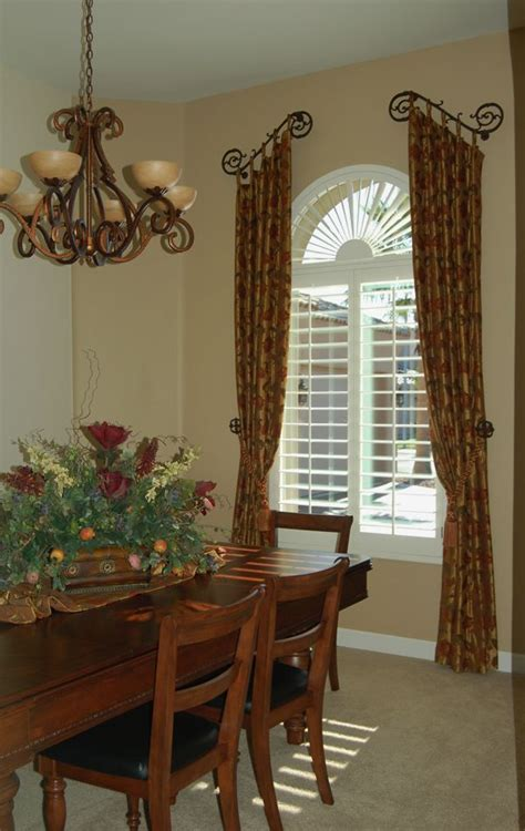 Country Window Treatments by Tuscan Country Window Treatments Dining Rooms
