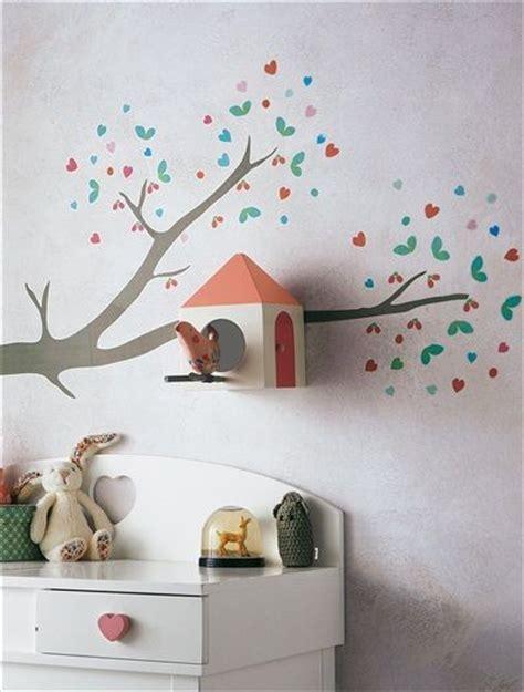 vertbaudet d o chambre stickers branche avec nichoir à oiseaux inspiration