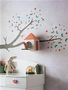 Stickers branche avec nichoir a oiseaux inspiration for Stickers chambre enfant avec matelas vosgiens