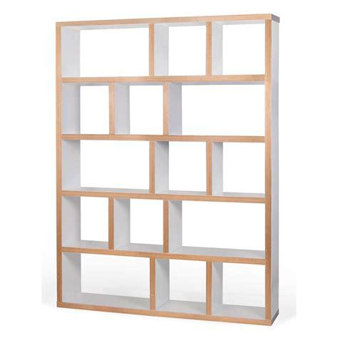 meuble cuisine blanc pas cher temahome etagère bibliothèque berlin 5 niveaux 150 cm