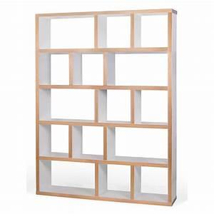 Etagère Design Pas Cher : etag re biblioth que berlin 5 niveaux 150 cm blanc bois ~ Dailycaller-alerts.com Idées de Décoration
