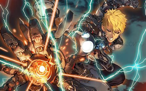 One Punch Man Genos Lightning Cyborg Wallpapers HD