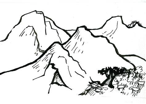 comment dessiner une montagne