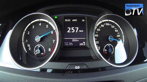 2016 Golf R 0 60 by Golf 7 R 2016 0 257 Km H Acceleration Top Speed