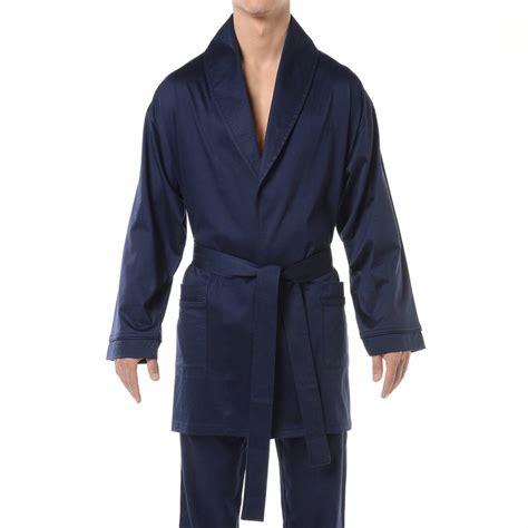 veste de chambre homme veste d 39 intérieur hom hugo en coton bleu marine rue des