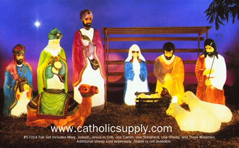 plastic outdoor nativity sets doors