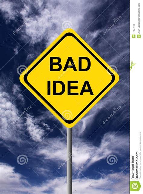 bad idea stock  image