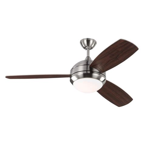 outdoor metal ceiling fans monte carlo discus trio 52 in indoor outdoor brushed
