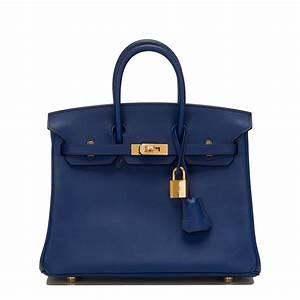 Hermes Birkin Bag 25cm Blue Sapphire Swift Gold Hardware ...  Hermes
