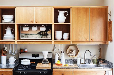 kitchen open shelves design chic organization tips for small kitchens 5432