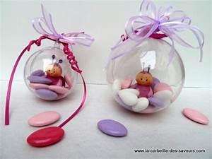 Decoration Pour Bapteme Fille : dragees bapteme cr ations et gourmandises ~ Mglfilm.com Idées de Décoration