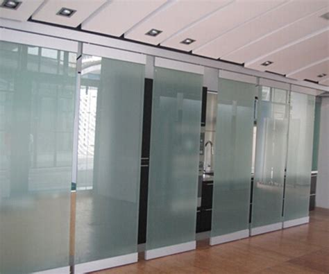 separation de bureau en verre 60 millimètres de verre trempé de taille 2000 4500