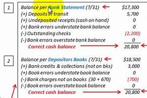 Bank Reconciliation Examples - BrandonGaille.com