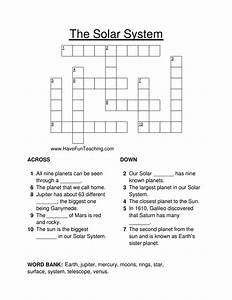 Solar System Fun Crossword Puzzle Answers - Pics about space