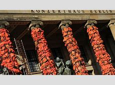 Ai Weiwei covers Berlin landmark in used life jackets for