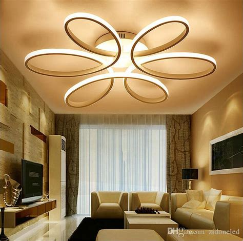 modern minimalism led ceiling chandelier lighting aluminum flower led ceiling light fixture