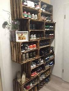 Schuhe Aufbewahren Ideen : ber ideen zu schuhregal selber bauen auf pinterest schuhregal m bel zum selbermachen ~ Markanthonyermac.com Haus und Dekorationen
