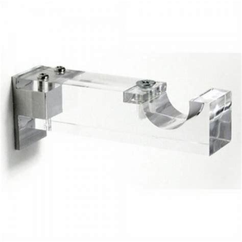 Clear Drapery Rods by Clear Acrylic Single Curtain Rod Bracket For 1 1 8