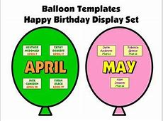 Balloon Birthday Templates by Heidi McDonald