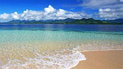 Ocean Beach Water Clear Wallpapers Covered Mountain