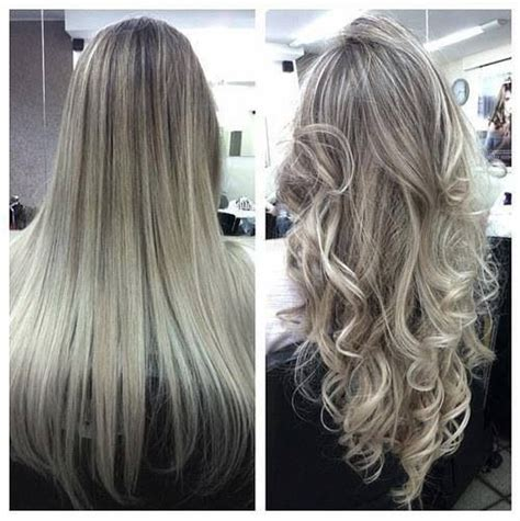silver blond highlights hair pinterest highlights