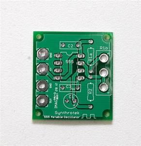 555 Oscillator  Diy  Oscillator  Delay  Synthrotek