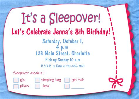 Free Printable Sleepover Birthday Party Invitations Girls Kitchen Blue Cabinets How To Make Use Of Corner Semi Custom Latte Kelowna Hardware For And Drawers White Lowes