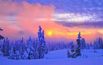 Scenery Winter Wallpapers Desktop Backgrounds Scenes Snow