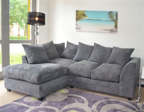 Grey Corner Settee by Jumbo Cord Lh Rh Corner Sofa In Grey Available In