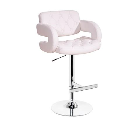 white leather bar stool lawson white quilted leather bar
