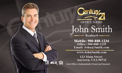century  agent business card templates
